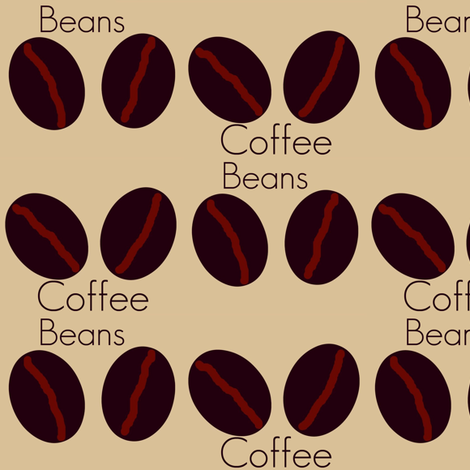 coffee beans # 9 fabric by paragonstudios on Spoonflower - custom fabric