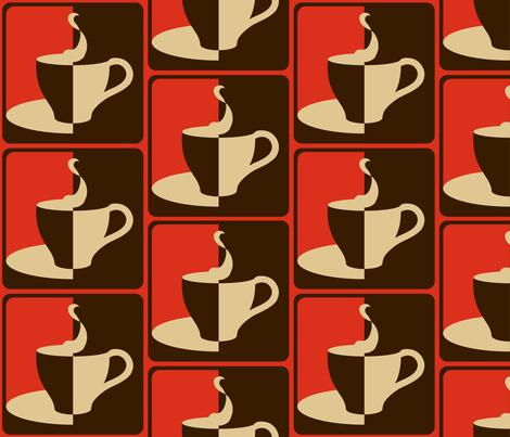 COFFEE_2_WAYS__red_ fabric by pavlovais on Spoonflower - custom fabric