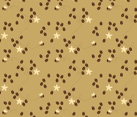 Coffee Buzz fabric by jenimp on Spoonflower - custom fabric
