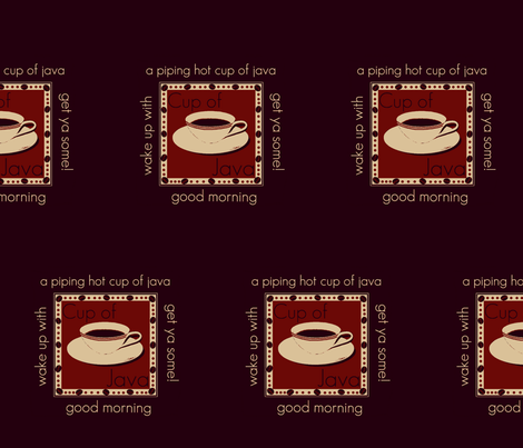 Java cup fabric by paragonstudios on Spoonflower - custom fabric