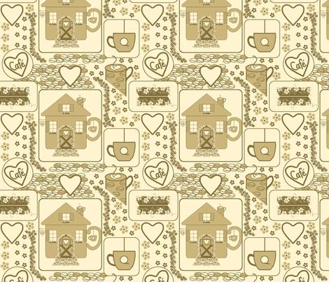 Coffee House Fun fabric by minniemeatdaydreamstudio on Spoonflower - custom fabric