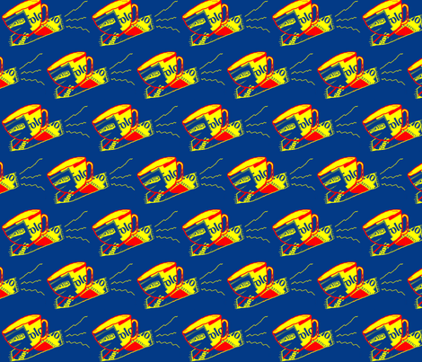 Coffee on Its Magic Carpet  fabric by robin_rice on Spoonflower - custom fabric