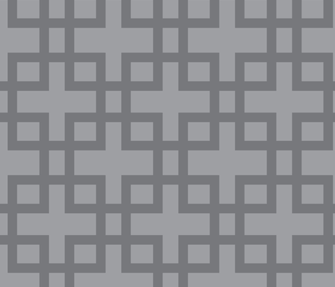 Big Box-Charcoa on Charcoal fabric by honey&fitz on Spoonflower - custom fabric