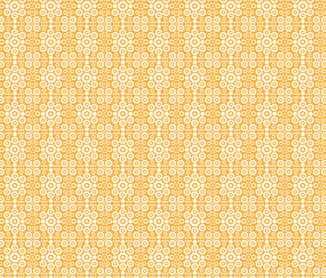 Flower Power (Orange 2) fabric by mondaland on Spoonflower - custom fabric
