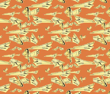 Lana and the Crocodile fabric by rachelbeckman on Spoonflower - custom fabric
