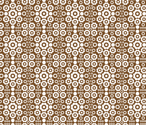 Flower Power (Brown) fabric by mondaland on Spoonflower - custom fabric