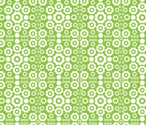 Flower Power (Green) fabric by mondaland on Spoonflower - custom fabric