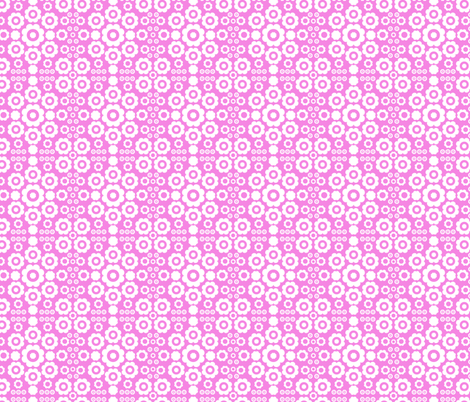 Flower Power (Pink) fabric by mondaland on Spoonflower - custom fabric