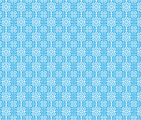 Flower Power (Blue) fabric by mondaland on Spoonflower - custom fabric
