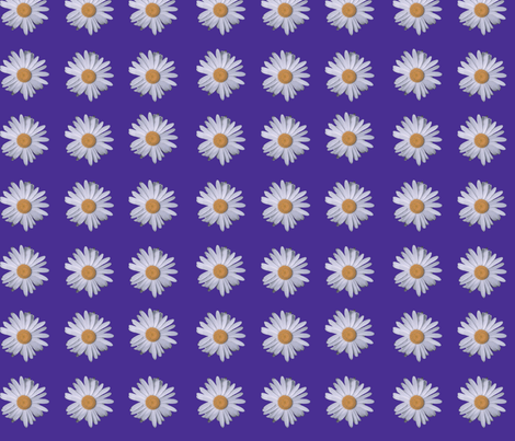 9 Daisies purple fabric by mokacreative on Spoonflower - custom fabric