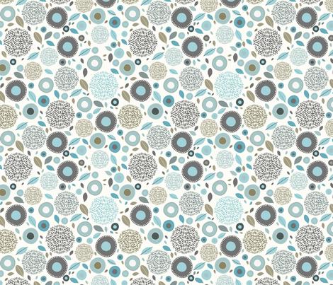 flo (blue) fabric by mondaland on Spoonflower - custom fabric