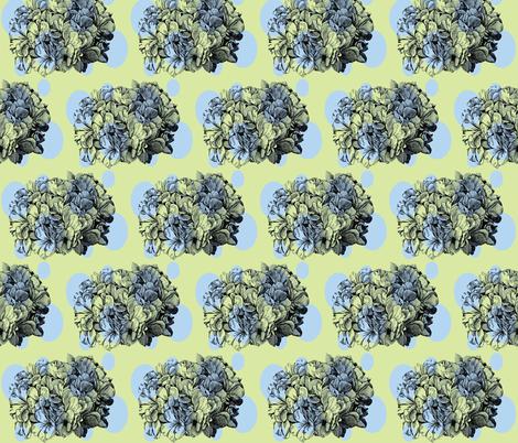 Dotty hydrangea/blue&green fabric by pattyryboltdesigns on Spoonflower - custom fabric