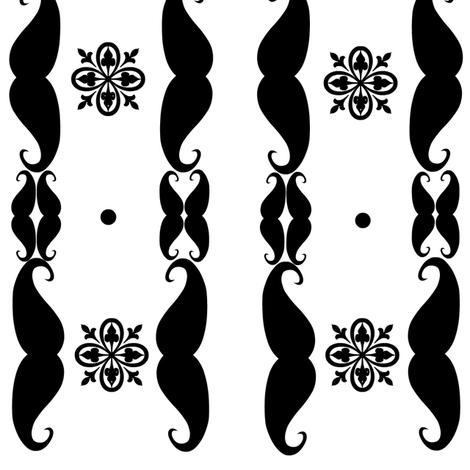 melstache's shape glyph fabric by melstache on Spoonflower - custom fabric