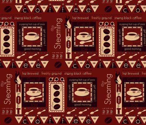 a piping hot cup / java #1 fabric by paragonstudios on Spoonflower - custom fabric
