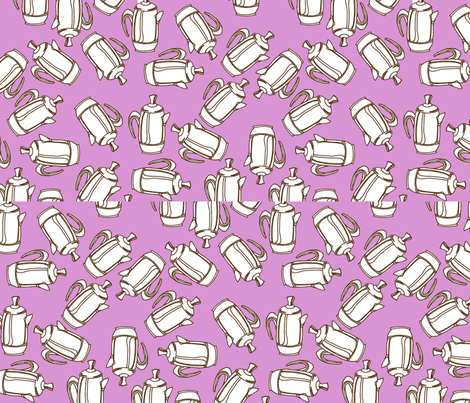 percolator-pink fabric by borealchick on Spoonflower - custom fabric