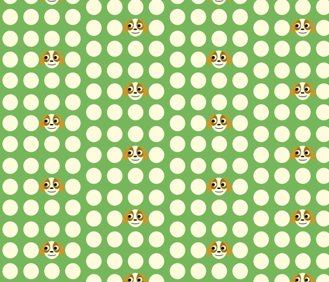 puppies polka dot fabric by heidikenney on Spoonflower - custom fabric