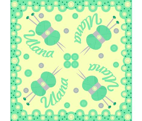 Ulana - Hawaiian Quilt (Cheater) fabric by giddystuff on Spoonflower - custom fabric
