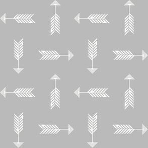 Arrows on gray