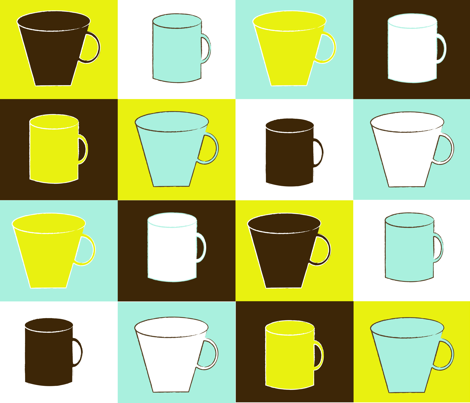 coffee fabric by jlwillustration on Spoonflower - custom fabric