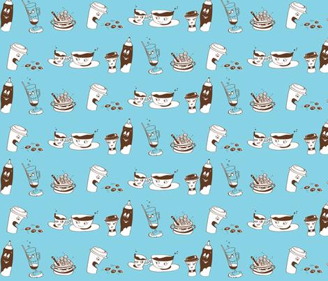 Coffee Commotion fabric by yooliadesign on Spoonflower - custom fabric