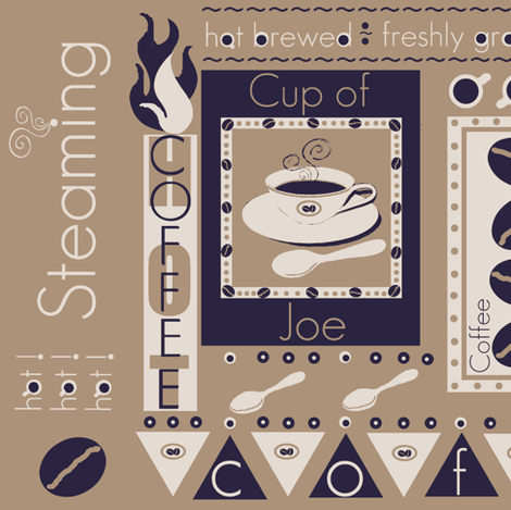 a piping hot cup / khaki  fabric by paragonstudios on Spoonflower - custom fabric