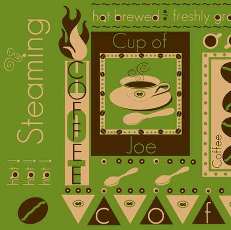 a piping hot cup / organic fabric by paragonstudios on Spoonflower - custom fabric