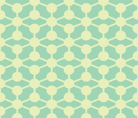 simple molecule soft blue fabric by jenr8 on Spoonflower - custom fabric