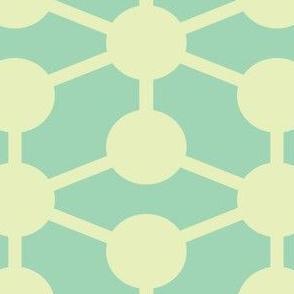 simple molecule soft blue