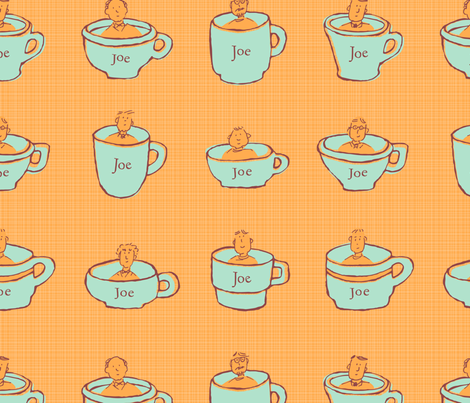 """Cups Of Joes"" by Cathy Heck Studio fabric by cathyheckstudio on Spoonflower - custom fabric"