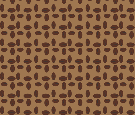 coffeeBeanOnly fabric by retrogirl on Spoonflower - custom fabric