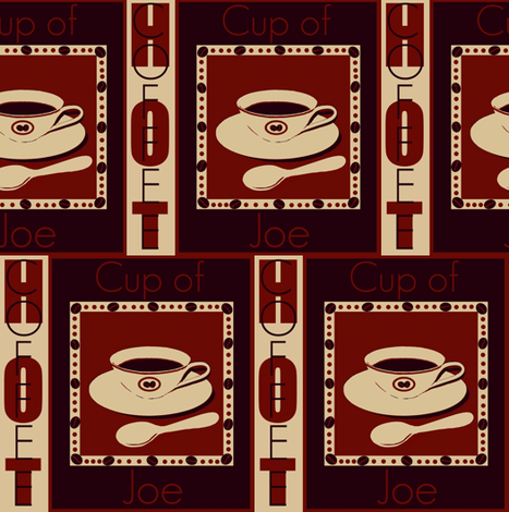 cup of joe #11 fabric by paragonstudios on Spoonflower - custom fabric