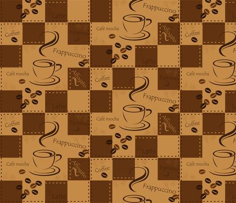 coffee fabric by jbhorsewriter7 on Spoonflower - custom fabric