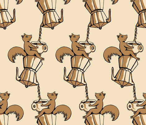 A little Squirrelly in the Morning fabric by juliettie on Spoonflower - custom fabric