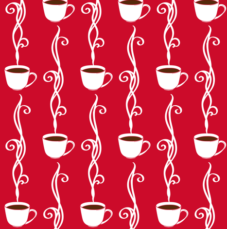 Steamy Coffee fabric by jillianmorris on Spoonflower - custom fabric
