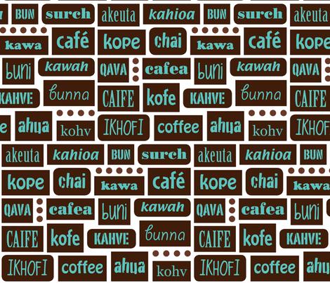 coffee 'round the world. LizArti fabric by lizarti on Spoonflower - custom fabric