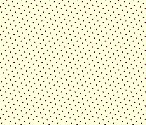 Coffee bean dots on cream fabric by victorialasher on Spoonflower - custom fabric
