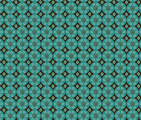 Coffeeee!!!!!!!!dark brown and aqua fabric by beebumble on Spoonflower - custom fabric