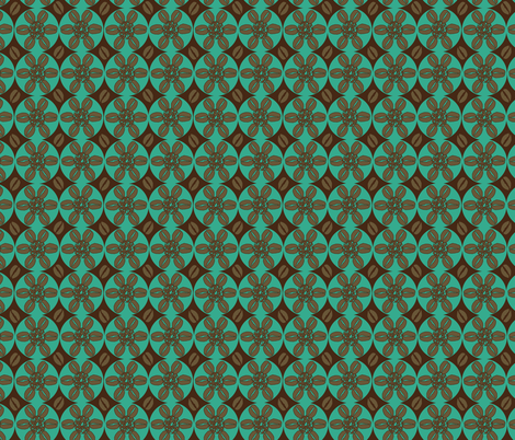 Coffeeee!!!!!!!!teal fabric by beebumble on Spoonflower - custom fabric