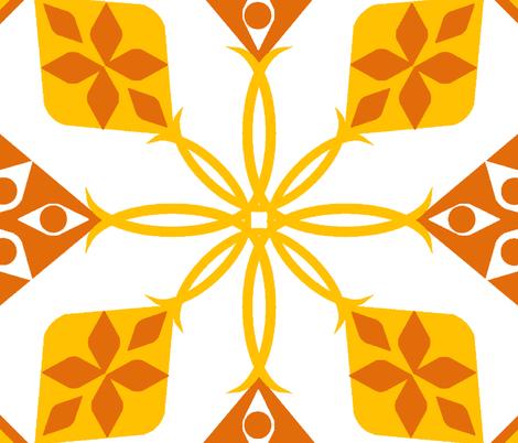 Mango Tango Hawaii fabric by ninjaauntsdesigns on Spoonflower - custom fabric
