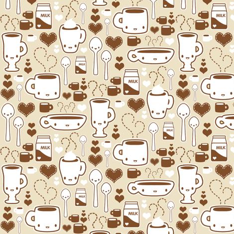 coffee guys fabric by kukubee on Spoonflower - custom fabric