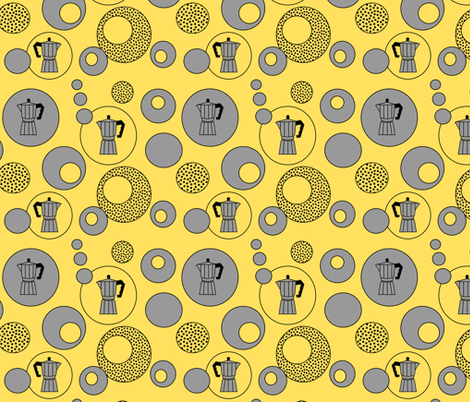 See you later, Percolator! fabric by yespleasestudio on Spoonflower - custom fabric
