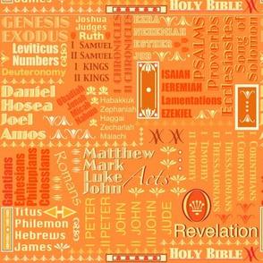 Books of The Bible - Orange