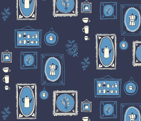 coffee gallery fabric by endemic on Spoonflower - custom fabric