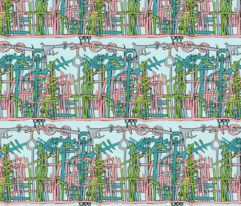 The Forest Is Full of Clues fabric by boris_thumbkin on Spoonflower - custom fabric