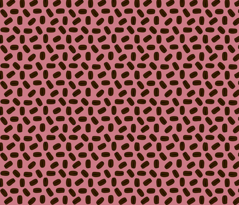 COFFEE_BEANS__rose_ fabric by pavlovais on Spoonflower - custom fabric