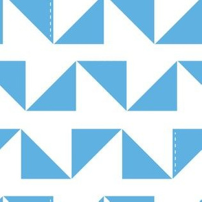Triangles in blue