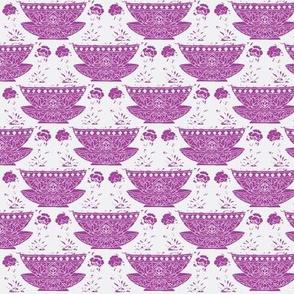 Bowl white-lilac