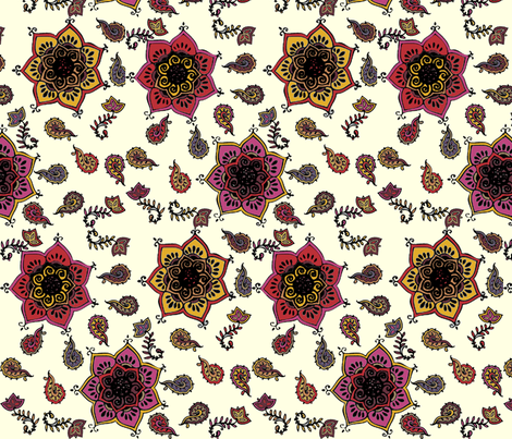 Henna Tattoo fabric by colie*leigh*designs on Spoonflower - custom fabric