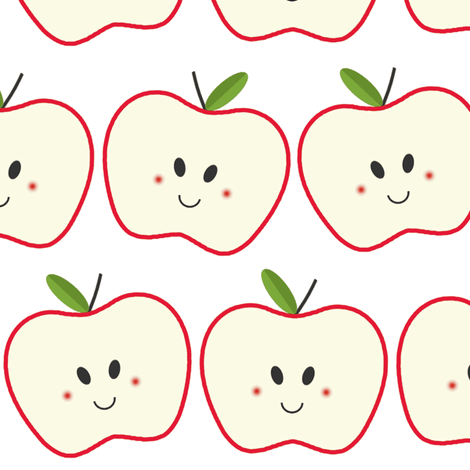 Happy Apple fabric by glueandglitter on Spoonflower - custom fabric