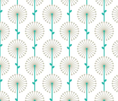Grey Lehua, Medium fabric by ravenous on Spoonflower - custom fabric